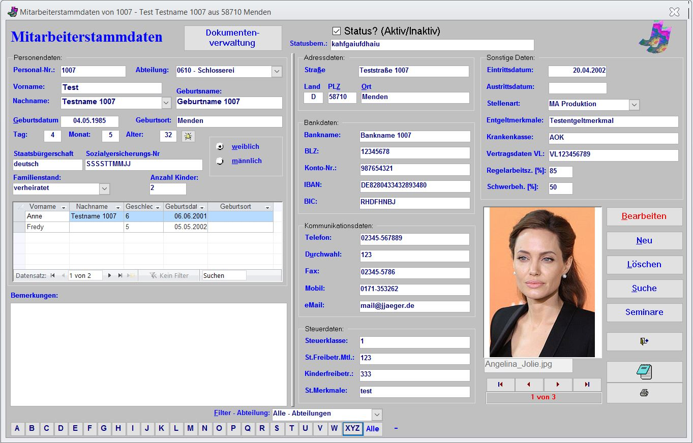 jj software personalverwaltung personal urlaub