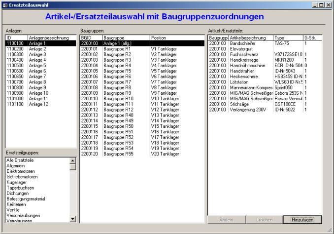 Startbild von Instandhaltungdatenbank